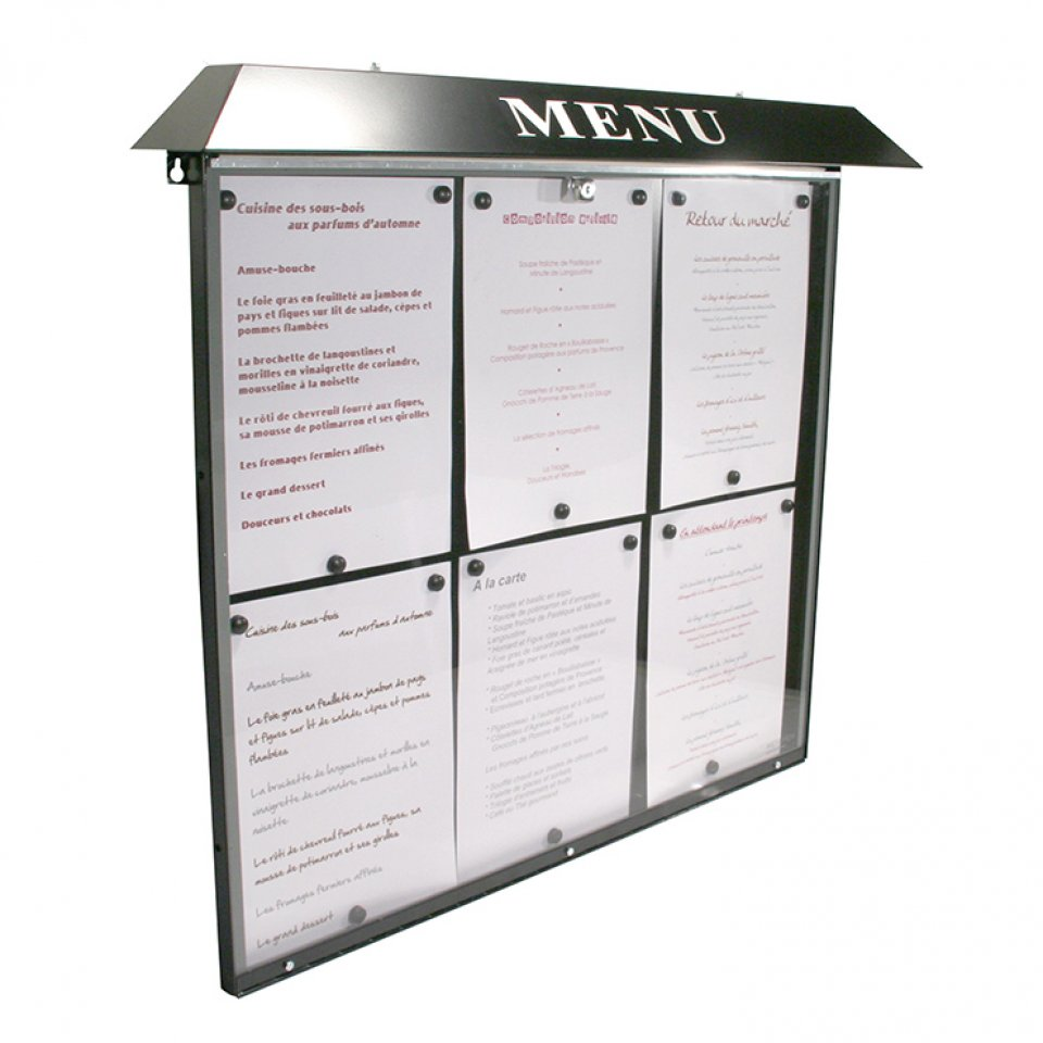 Menus et services porte menu ext rieur normandie for Porte menu exterieur pour restaurant